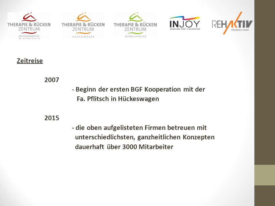 Zeitreise 2007 - Beginn der ersten BGF Kooperation mit der Fa.