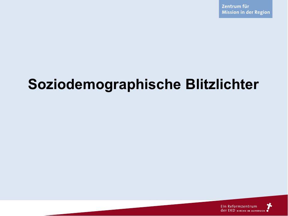 Soziodemographische Blitzlichter – Bevölkerungsentwicklung Ø 343