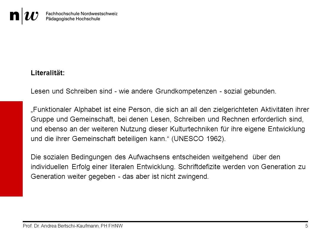 Prof.Dr. Andrea Bertschi-Kaufmann, PH FHNW6 2 Mit Schrift aufwachsen.