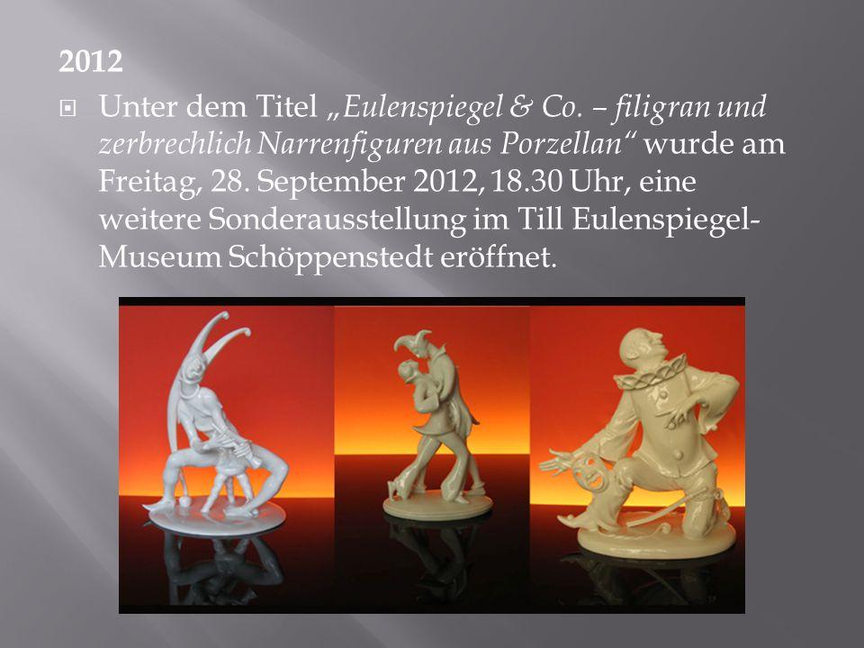 """2012  Unter dem Titel """" Eulenspiegel & Co."""