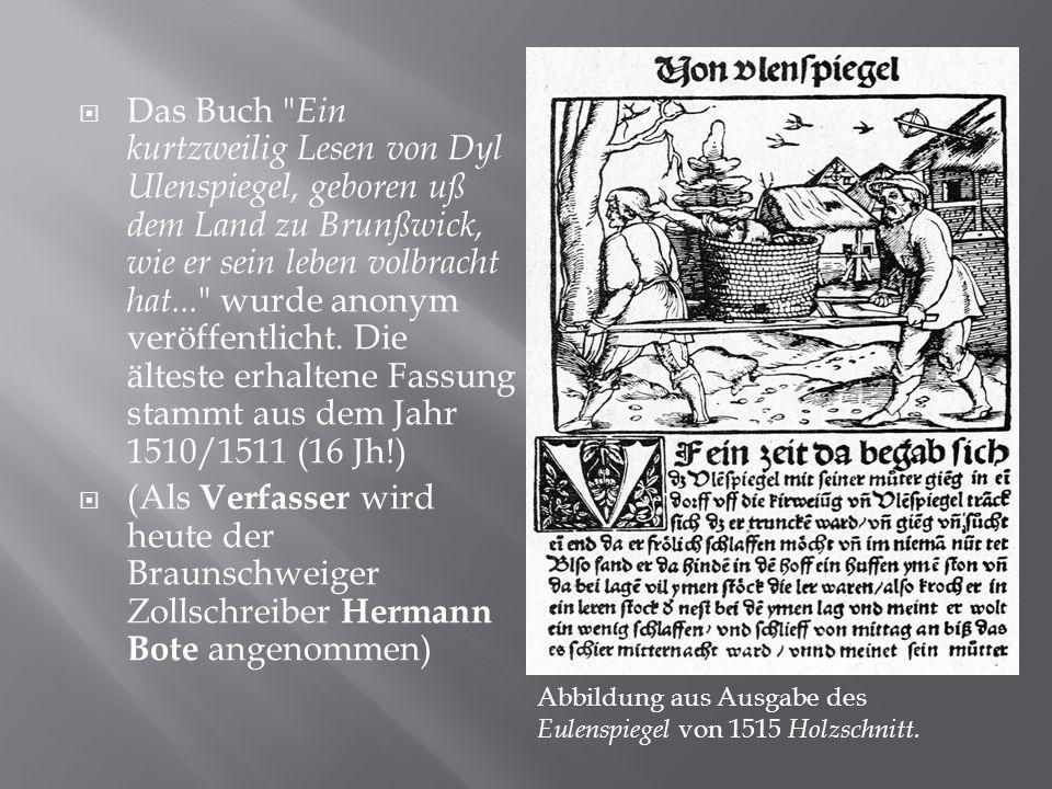  Das Buch Ein kurtzweilig Lesen von Dyl Ulenspiegel, geboren uß dem Land zu Brunßwick, wie er sein leben volbracht hat...