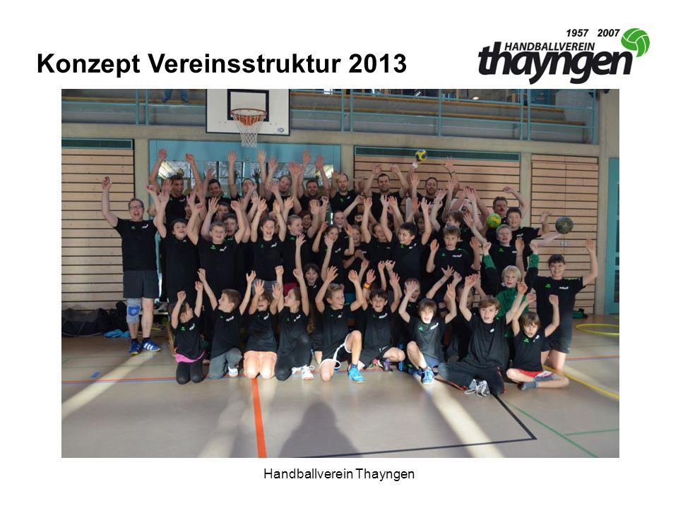 Handballverein Thayngen Vereinsvorsteher (Präsident) FinanzenSpielbetriebJuniorenwesen Sponsoring Marketing VereinsanlässeMannschaften Konzept Vereinsstruktur 2013 Organigramm