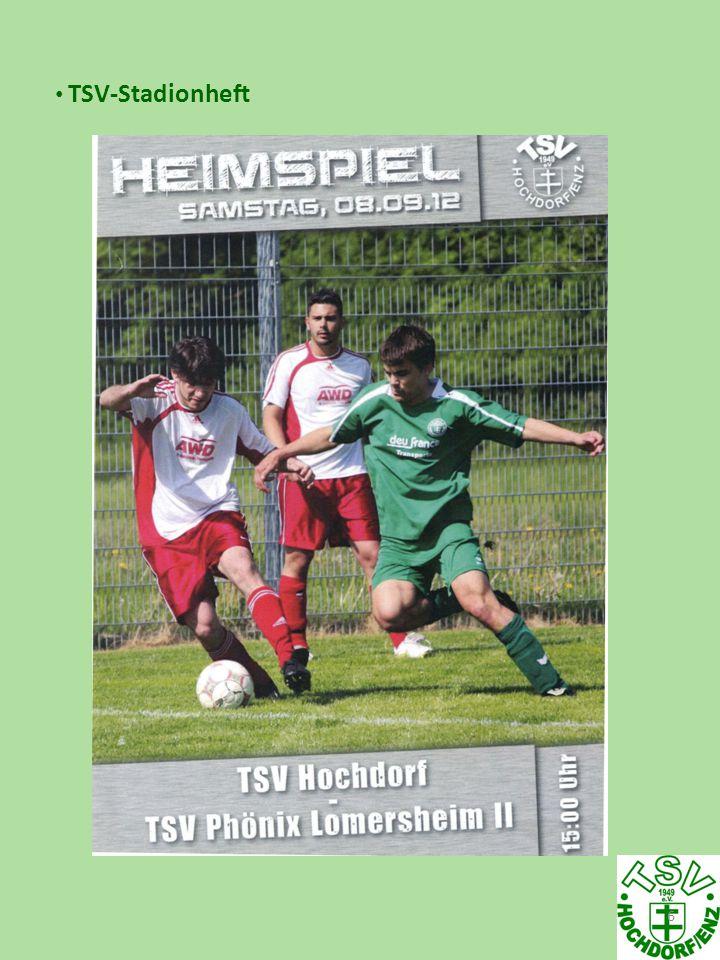 7 Auch diese Saison gibt es wieder ein TSV-Stadionheft.