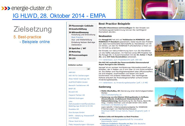 IG HLWD, 28.Oktober 2014 - EMPA NZZ am Sonntag, 19.