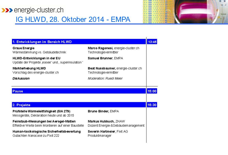 IG HLWD, 28. Oktober 2014 - EMPA