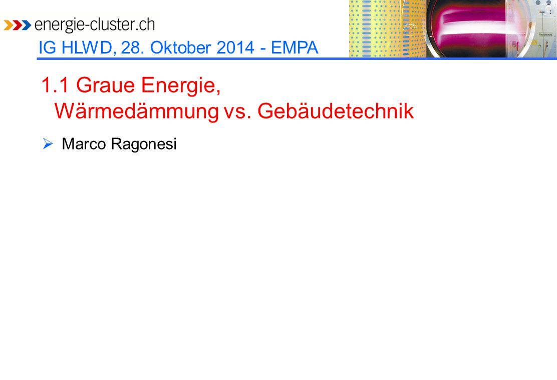 IG HLWD, 28. Oktober 2014 - EMPA 1.2 HLWD-Entwicklungen in der EU  Samuel Brunner