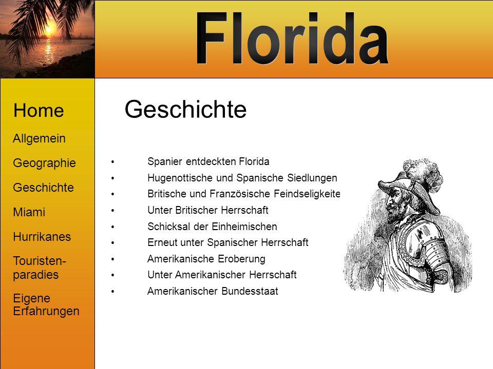 Geschichte Spanier entdeckten Florida Hugenottische und Spanische Siedlungen Britische und Französische Feindseligkeiten Unter Britischer Herrschaft S
