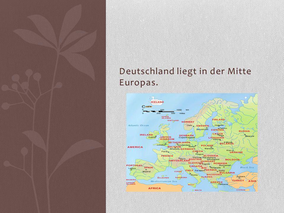 Kein anderes Land in Europa hat so viele Nachbarstaaten wie die Bundesrepublik.