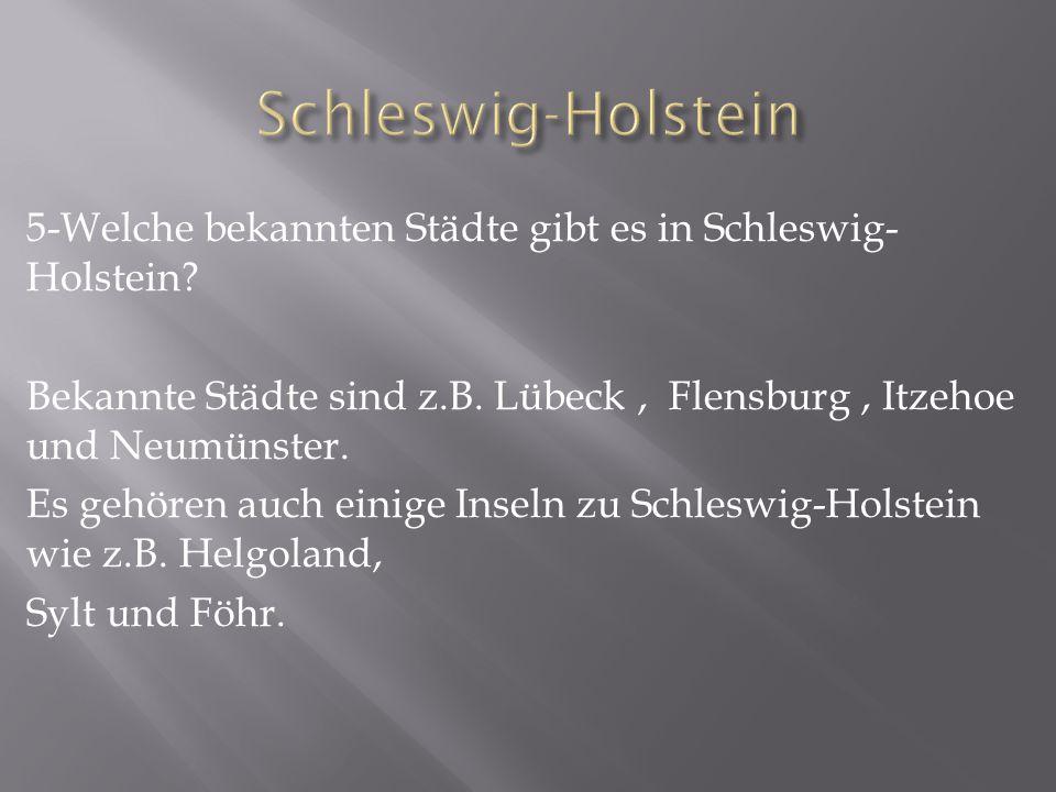 6-Wie sieht das Wappen von Schleswig- Holstein aus.