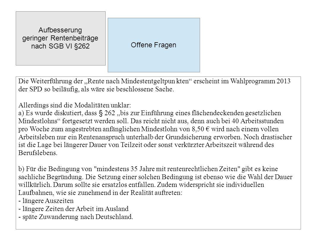 Beiträge und Rentenansprüche für Langzeitarbeitslose Bisherige Lage CDU/CSU und FDP beschlossen mit ihrer Mehrheit, dass ab dem 1.1.2011 keine BA-Beiträge für ALG II-Empfänger mehr an die Rentenkasse gezahlt werden und auch keine entsprechenden Rentenansprüche erworben werden.