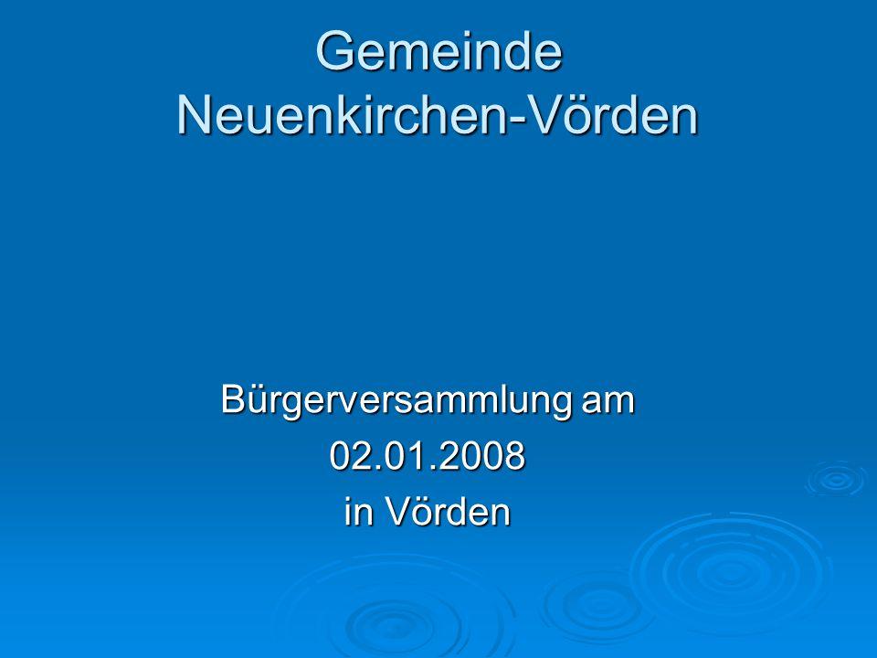 Gemeinde Neuenkirchen-Vörden Bürgerversammlung am 02.01.2008 in Vörden