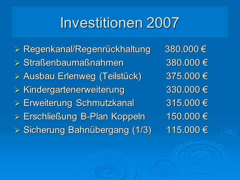 Schulden 2002 bis 2007