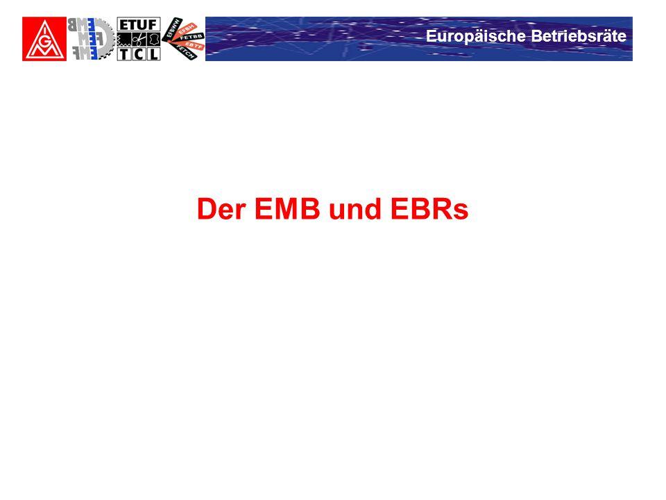 Europäische Betriebsräte Der EMB und EBRs