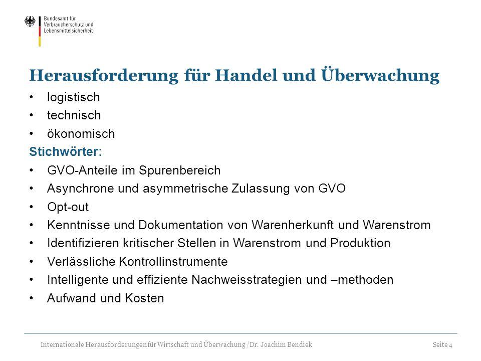 Seite 4 Internationale Herausforderungen für Wirtschaft und Überwachung /Dr. Joachim Bendiek Herausforderung für Handel und Überwachung logistisch tec