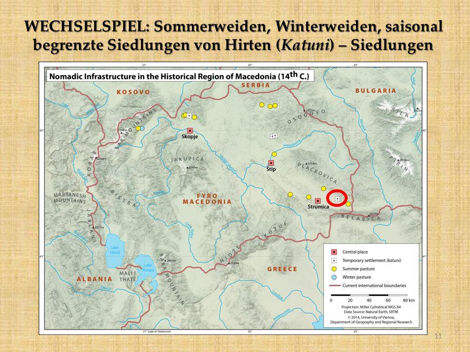 WECHSELSPIEL: Sommerweiden, Winterweiden, saisonal begrenzte Siedlungen von Hirten (Katuni) – Siedlungen 11