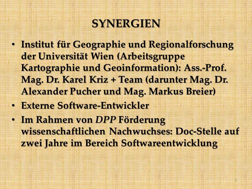 SYNERGIEN Institut für Geographie und Regionalforschung der Universität Wien (Arbeitsgruppe Kartographie und Geoinformation): Ass.-Prof.