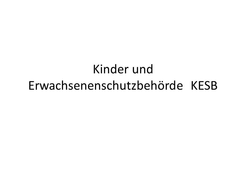 Kinder und Erwachsenenschutzbehörde KESB