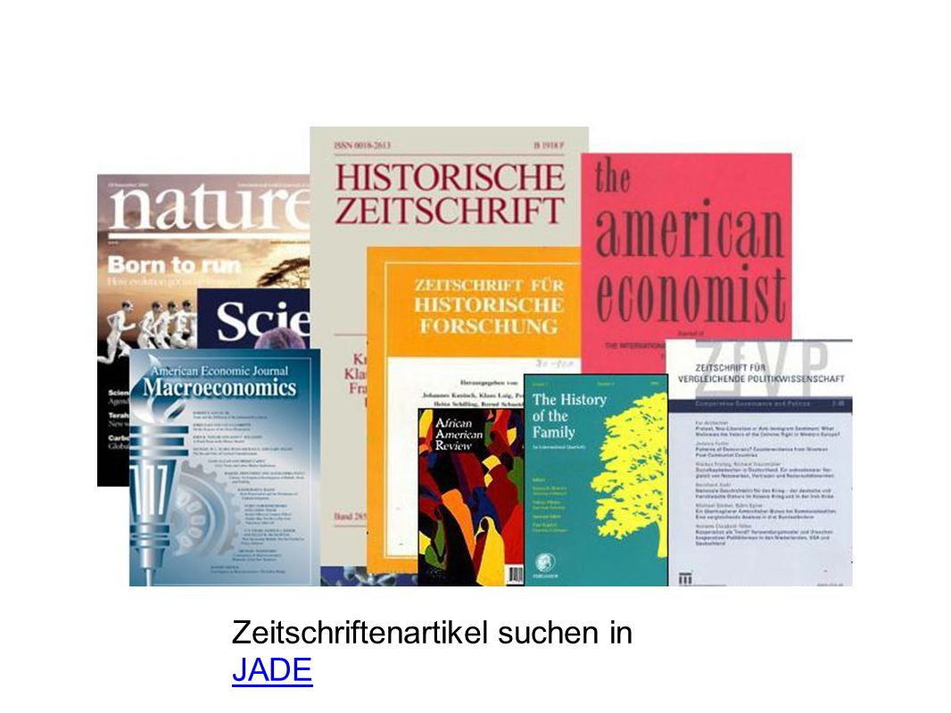 Zeitschriftenartikel suchen in JADE JADE