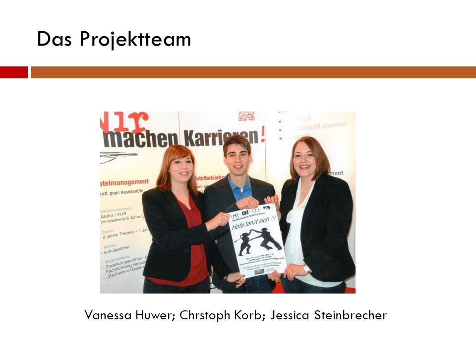 Das Projektteam Vanessa Huwer; Chrstoph Korb; Jessica Steinbrecher