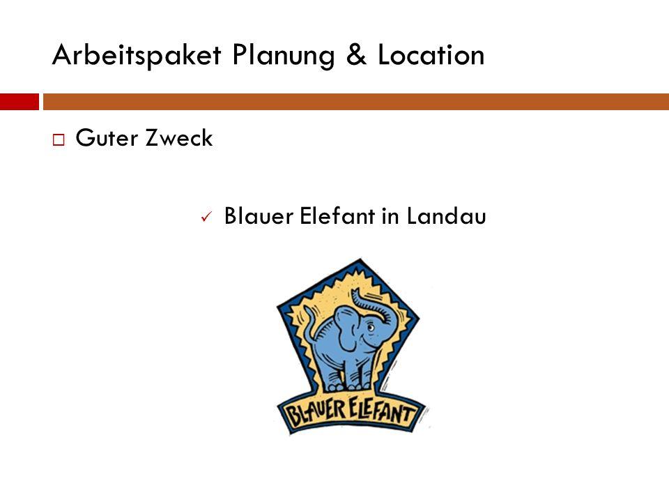 Arbeitspaket Planung & Location  Leitung des Kurses Alexander Poth