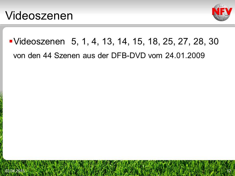 Videoszenen 03.04.201512  Videoszenen 5, 1, 4, 13, 14, 15, 18, 25, 27, 28, 30 von den 44 Szenen aus der DFB-DVD vom 24.01.2009