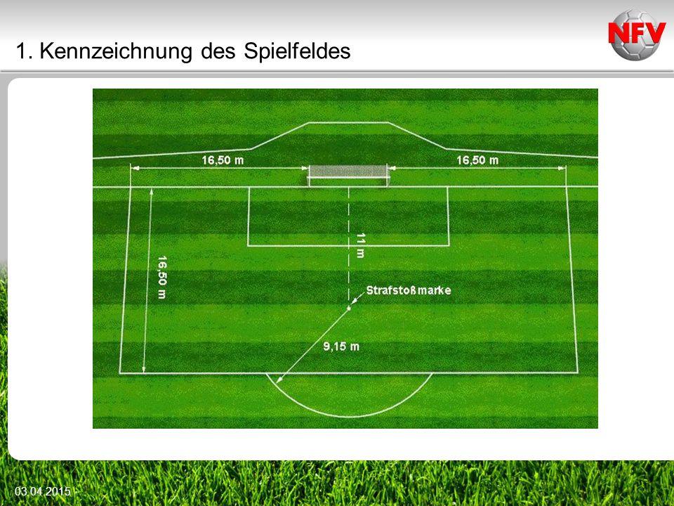 1. Kennzeichnung des Spielfeldes 03.04.2015