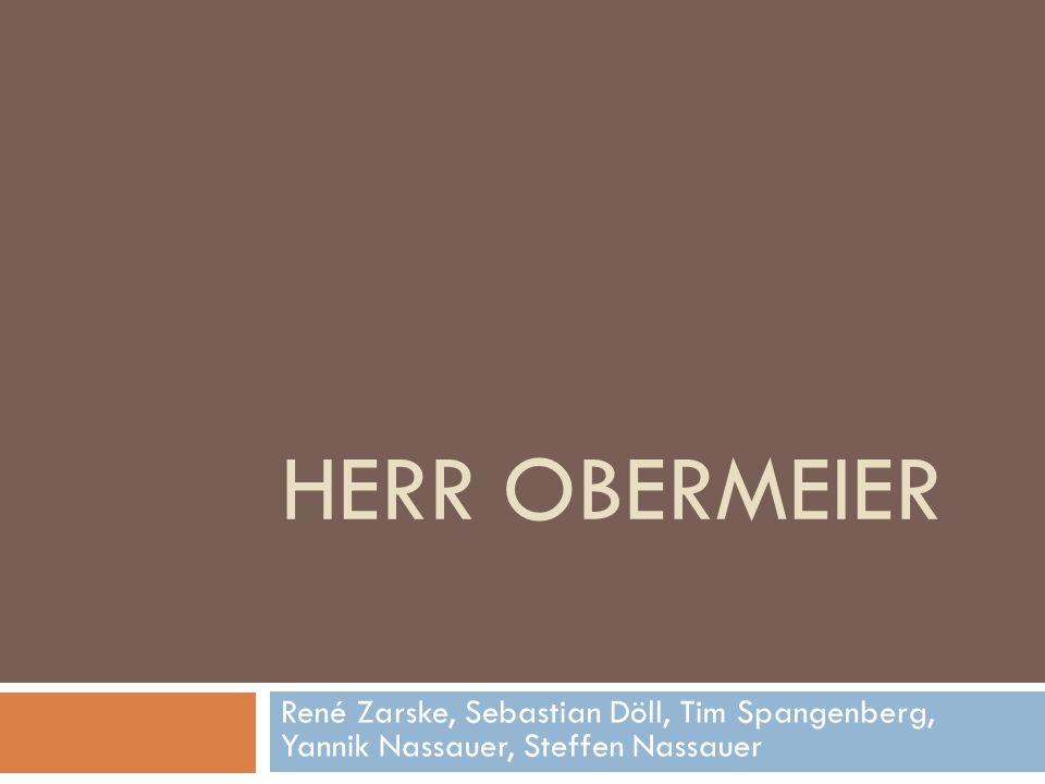 Inhalt  Obermeier: Leiter der EDV-Abteilung  Wird von den Mitarbeitern nicht mehr als Chef seiner eigenen Abteilung wahrgenommen (Z.