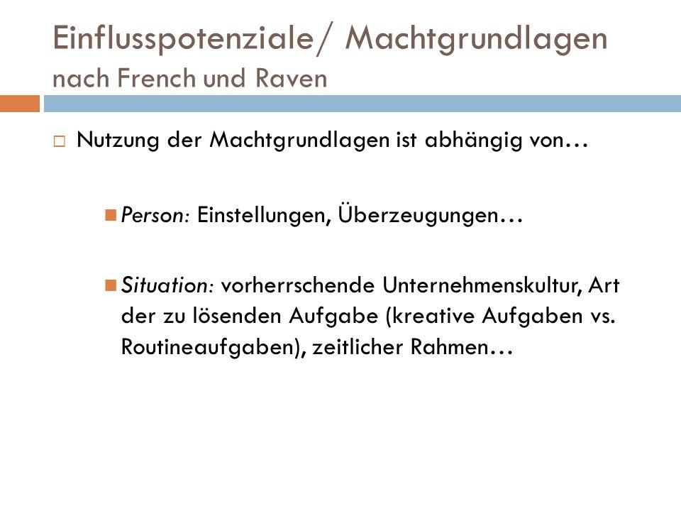 Machtgrundlagen von Obermeier Macht durch… 1.Legitimation (Z.
