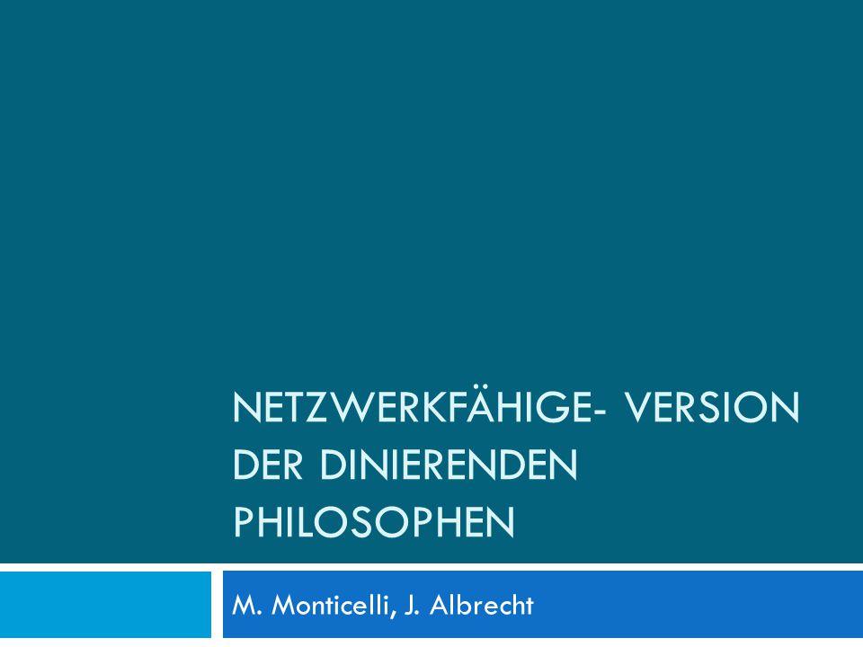 NETZWERKFÄHIGE- VERSION DER DINIERENDEN PHILOSOPHEN M. Monticelli, J. Albrecht