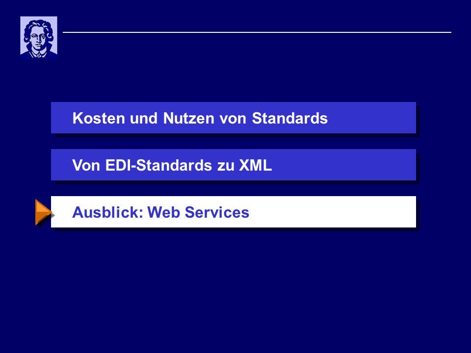 Kosten und Nutzen von StandardsAusblick: Web ServicesVon EDI-Standards zu XML