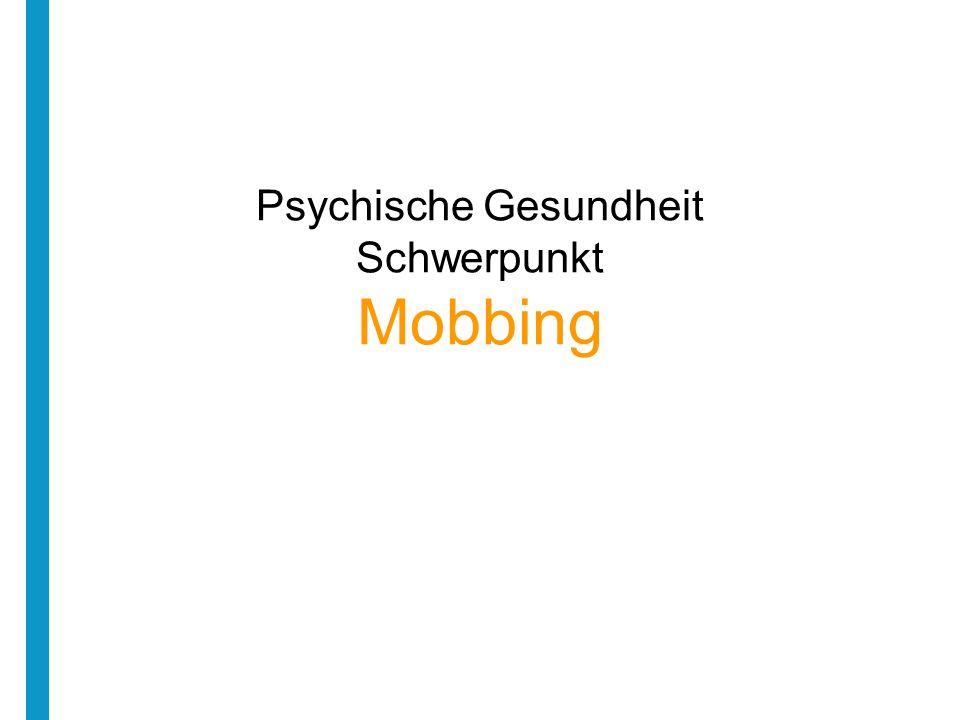 Inhalt Was ist Mobbing.Wo passiert Mobbing. Wer sind die Opfer.