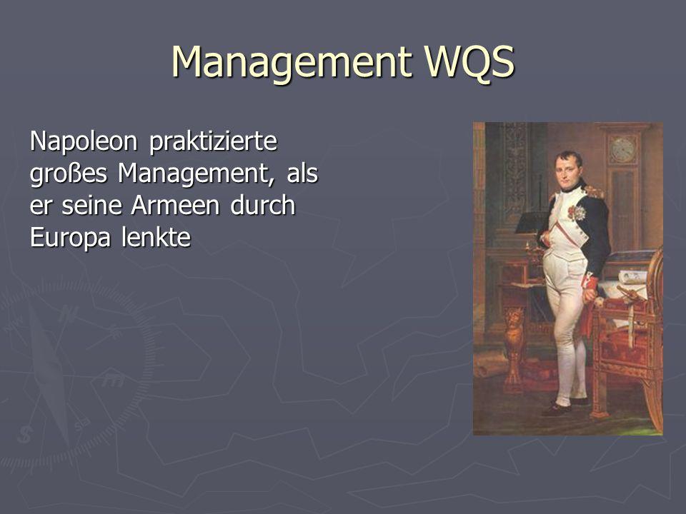 Management WQS Napoleon praktizierte großes Management, als er seine Armeen durch Europa lenkte