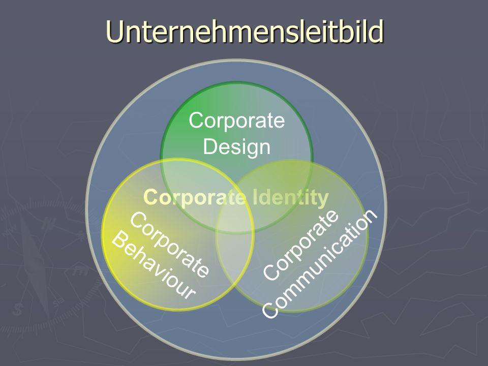 Unternehmensleitbild Corporate Identity Corporate Design C o r p o r a t e C o m m u n i c a t i o n C o r p o r a t e B e h a v i o u r