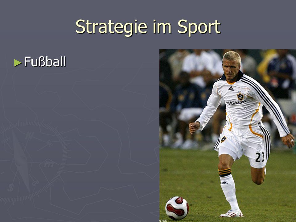 Strategie im Sport ► Fußball
