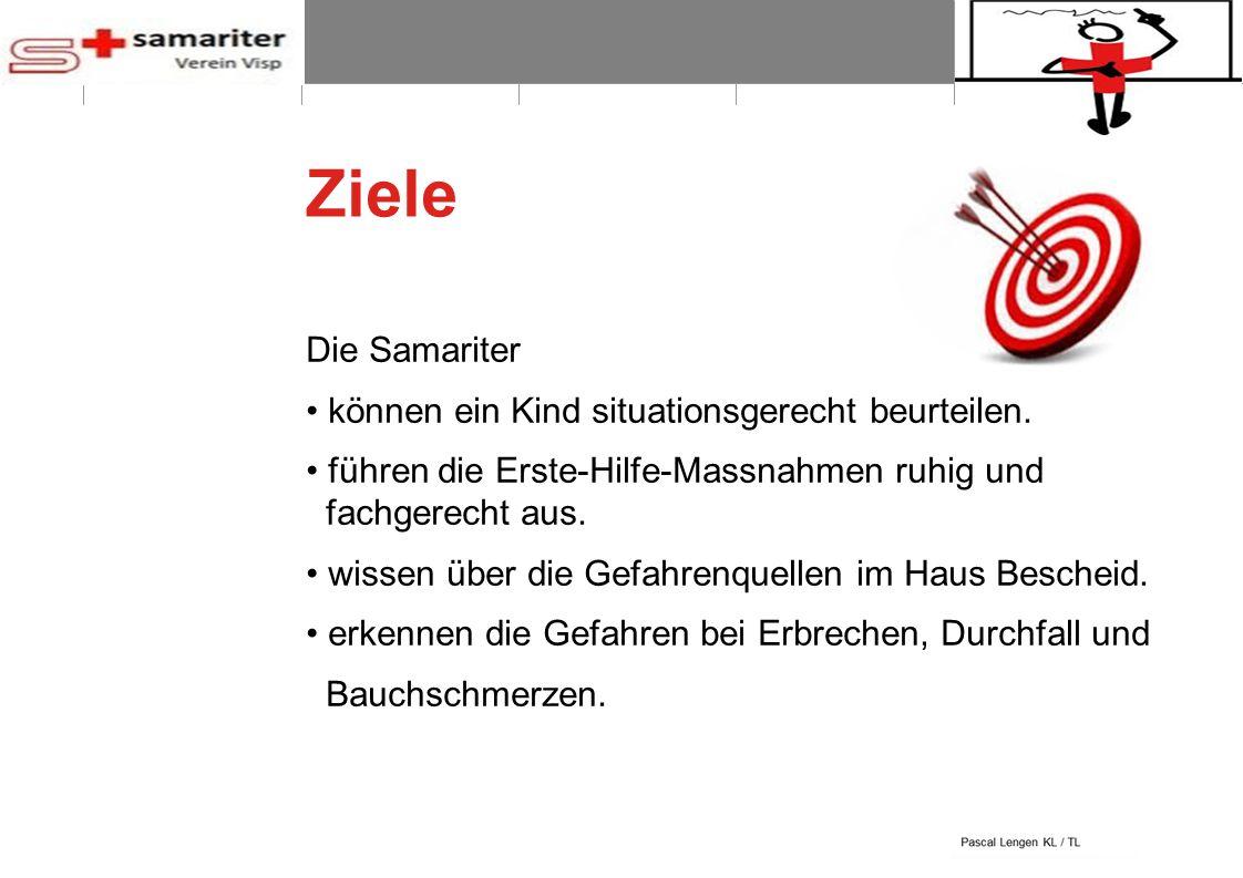 BLS-AED REPE 2012 3 © Schweizerischer Samariterbund Ziele Die Samariter können ein Kind situationsgerecht beurteilen. führen die Erste-Hilfe-Massnahme