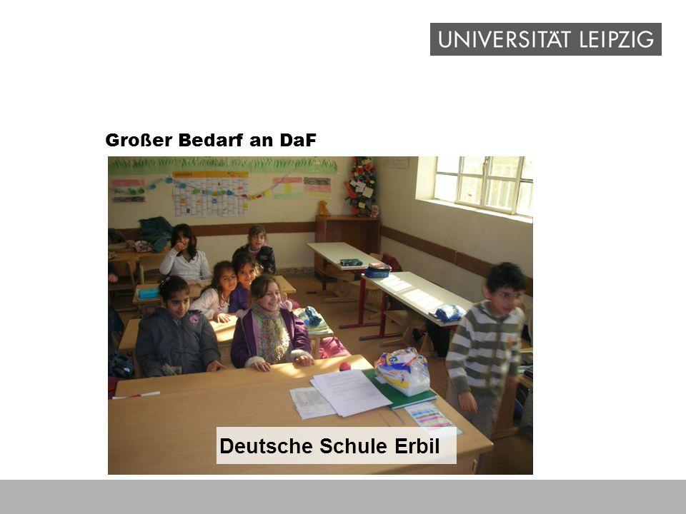 Großer Bedarf an DaF Deutsche Schule Erbil