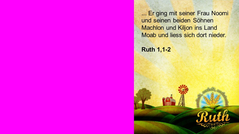 Ruth vertraut Gott Ruth vertraut Gott: Moabitische Frauen waren nicht beliebt in Israel Verwitwete moabitische Frauen fanden keinen Mann in Israel, wenn sie keine Kinder hatten Ausländische Witwen in Israel waren am ärmsten dran, was das Essen betrifft