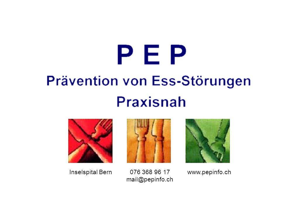Fachstelle PEP am Inselspital Bern 076 368 96 17 fachstelle@pepinfo.ch www.pepinfo.ch Inselspital Bern076 368 96 17 mail@pepinfo.ch www.pepinfo.ch
