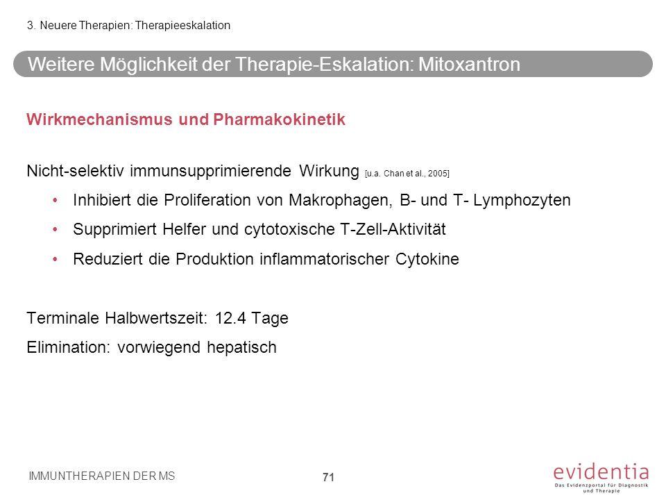 Wirkmechanismus und Pharmakokinetik Nicht-selektiv immunsupprimierende Wirkung [u.a. Chan et al., 2005] Inhibiert die Proliferation von Makrophagen, B