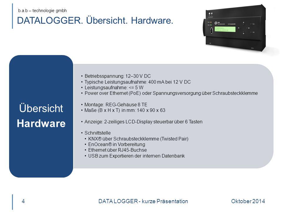 b.a.b – technologie gmbh DATALOGGER. Übersicht. Hardware.