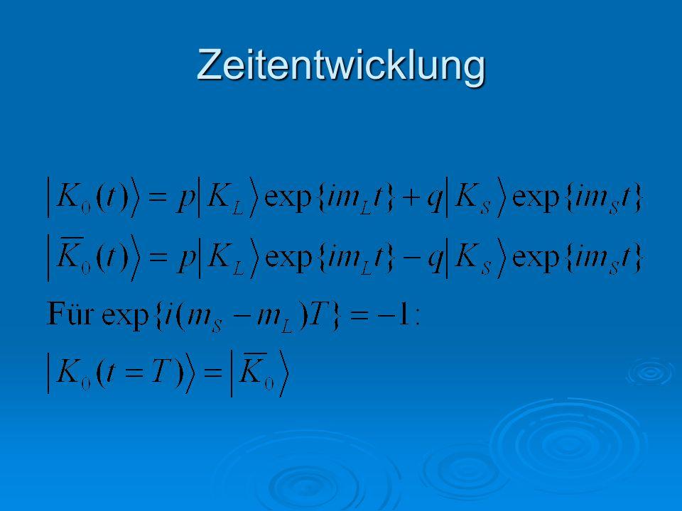 B s -Oszillationen  Deutlich schnellere Oszillation   m s =(17,8±0,1)ps -1  Stimmt mit SM überein