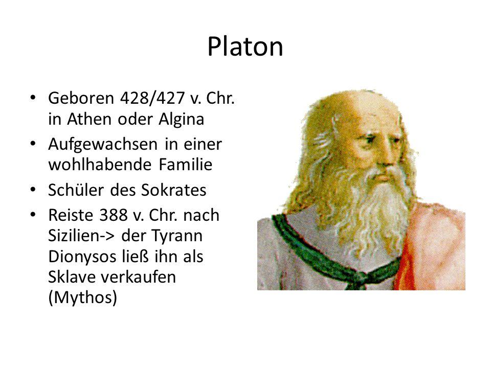 Platon Geboren 428/427 v.Chr.