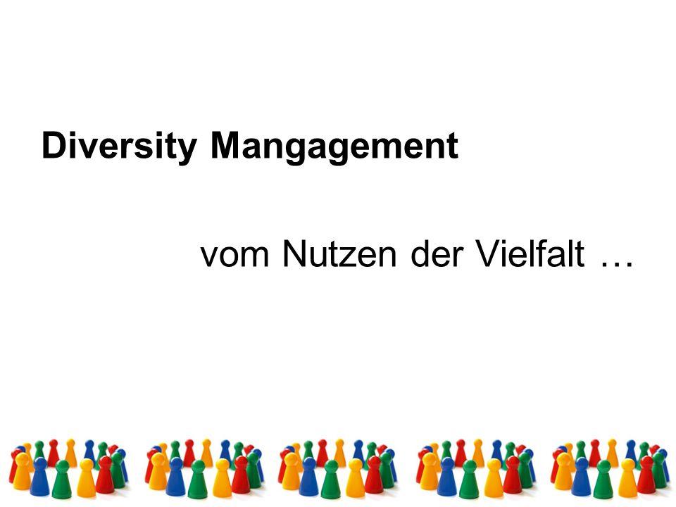 Diversity Management, ein aus den USA kommendes Konzept zur bewussten Integration von Vielfalt (Geschlecht, Alter, ethnischer Herkunft, Behinderung, sexuelle Orientierung, Religion und Weltanschauung, usw.) in Betrieben und Organisationen.