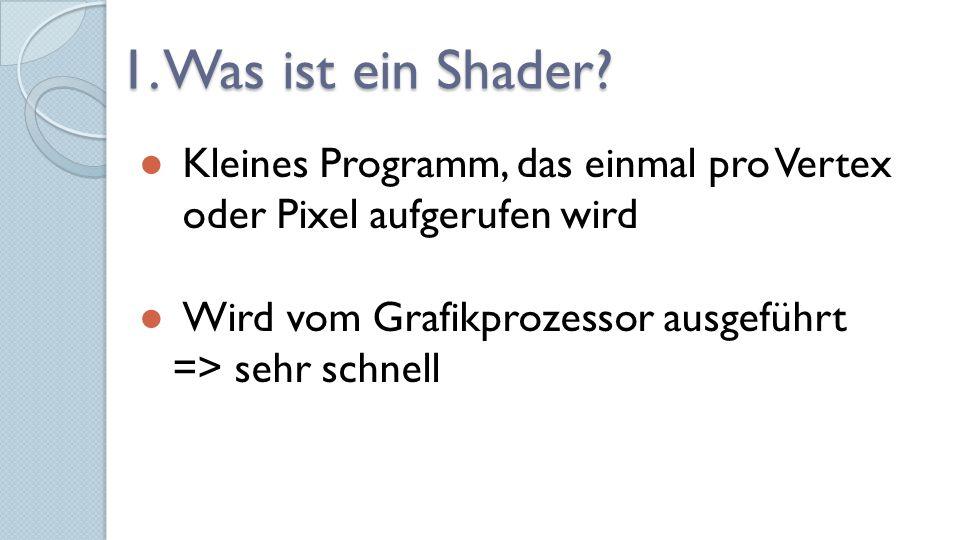 Weiterführende Infos zu Shadern im DirectX-SDK, auf msdn.microsoft.com oder in der DirectX- Dokumentation Vielen Dank für die Aufmerksamkeit!