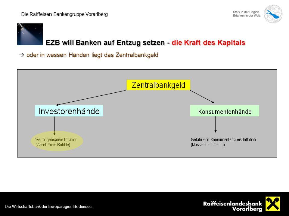Die Wirtschaftsbank der Europaregion Bodensee. 9 Die Raiffeisen-Bankengruppe Vorarlberg EZB will Banken auf Entzug setzen - die Kraft des Kapitals Die