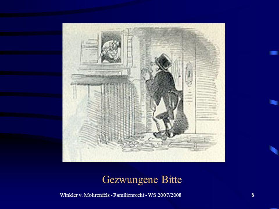 Winkler v. Mohrenfels - Familienrecht - WS 2007/20089 Gewährung und definitiver Abschied