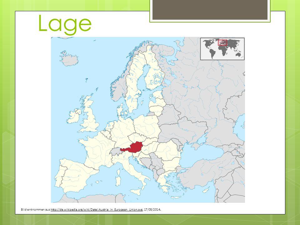 Lage Bild entnommen aus http://de.wikipedia.org/wiki/Datei:Austria_in_European_Union.svg, 17/05/2014.