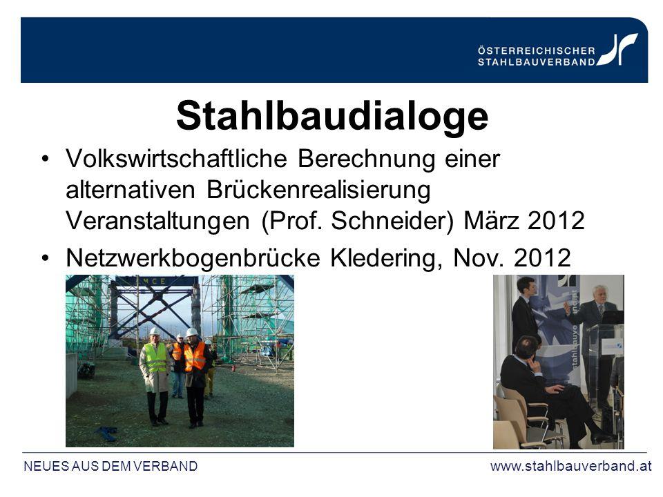 Stahlbaudialoge Volkswirtschaftliche Berechnung einer alternativen Brückenrealisierung Veranstaltungen (Prof. Schneider) März 2012 Netzwerkbogenbrücke