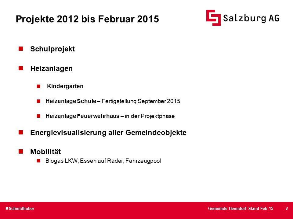 Energie ist Leben 3. Klasse NMMS Henndorf 3 SchmidhuberGemeinde Henndorf Stand Feb 15