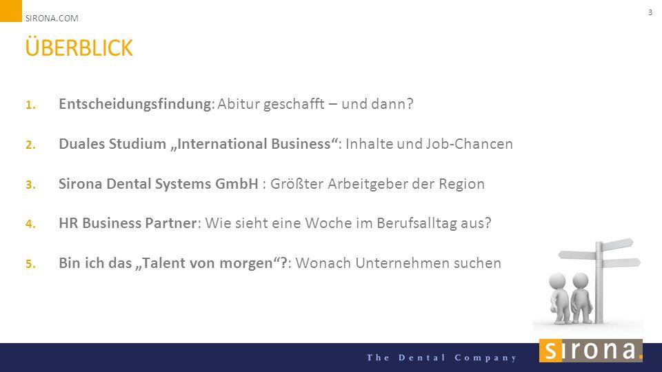 SIRONA.COM Unternehmenspräsentation 2014 3 ÜBERBLICK 1.